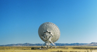 One of the many antennae found at New Mexico's Very Large Array. (Photo: Natalie Rae Good)