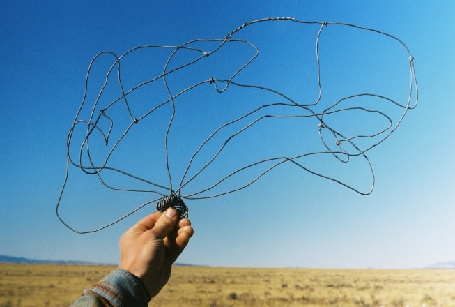A bit of twisted wire found by New Mexico's Very Large Array. (Photo: Natalie Rae Good)