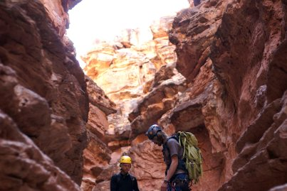 Ben Alford and Nick Steele enjoy Badger Canyon. (Photo: Mag Kim)
