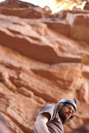 Nick Steele in Badger Canyon. (Photo: Mag Kim)