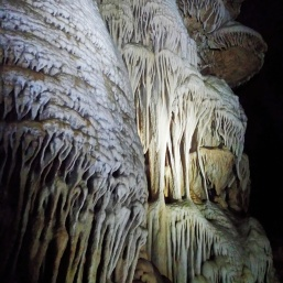 Impressive flowstone formations in Lake Cave, New Mexico. (Photo: Mag Kim)