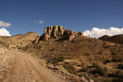 Volcanic outcropping on the way to Luna Park, New Mexico. (Photo: Mag Kim)