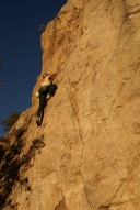 Mag Kim on the Sweet Rock wall in Cochise Stronghold. (Photo: Natalie Rae Good)